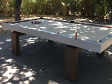 Jon Harris enjoys his South Beach table from All Weather Billiards in California Wine Country