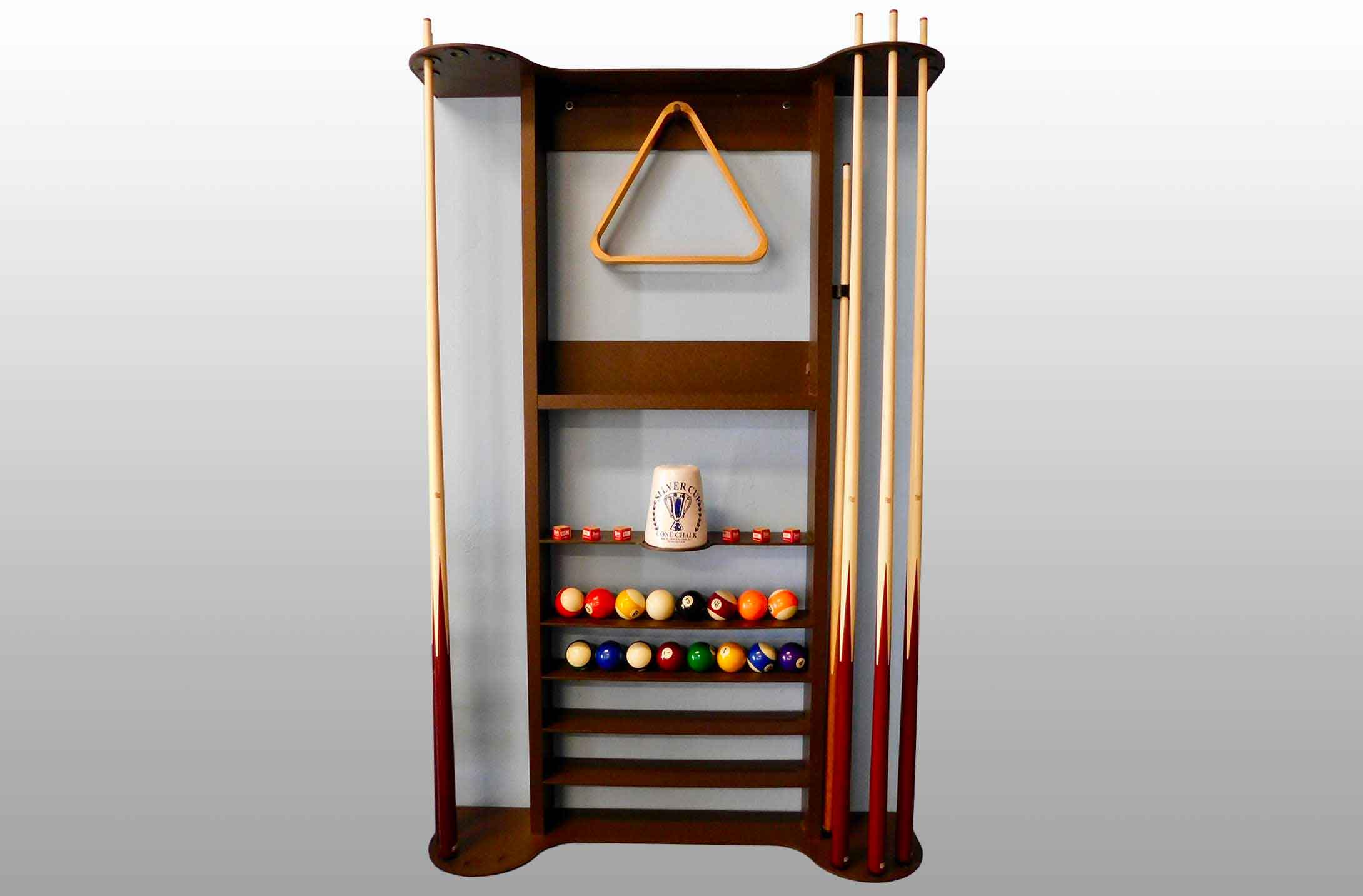Wall mounted cue rack holder by R&R Outdoors All Weather Billiards