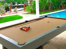 Jim Fitzpatrick from Rhode Island enjoys his custom South Beach outdoor pool table