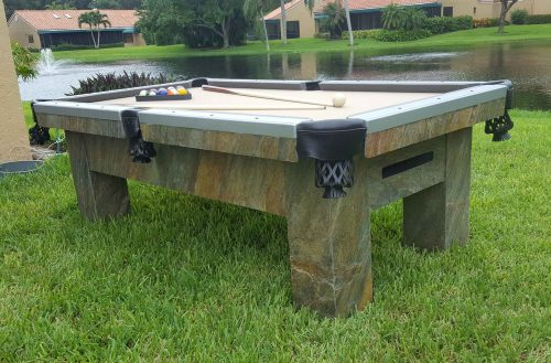 Artisan custom outdoor pool table by R&R Outdoors All Weather Billiards