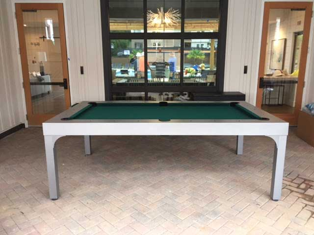 Custom Balcony Outdoor Pool Table from R&R Outdoors, Inc. All Weather Billiards