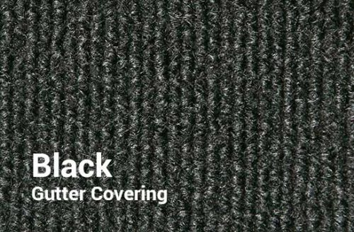Outdoor Shuffleboard Table Gutter Covering in Black from R&R Outdoors All Weather Billiards