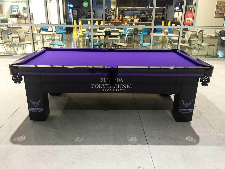 Florida Polytechnic University's custom Orion outdoor pool table