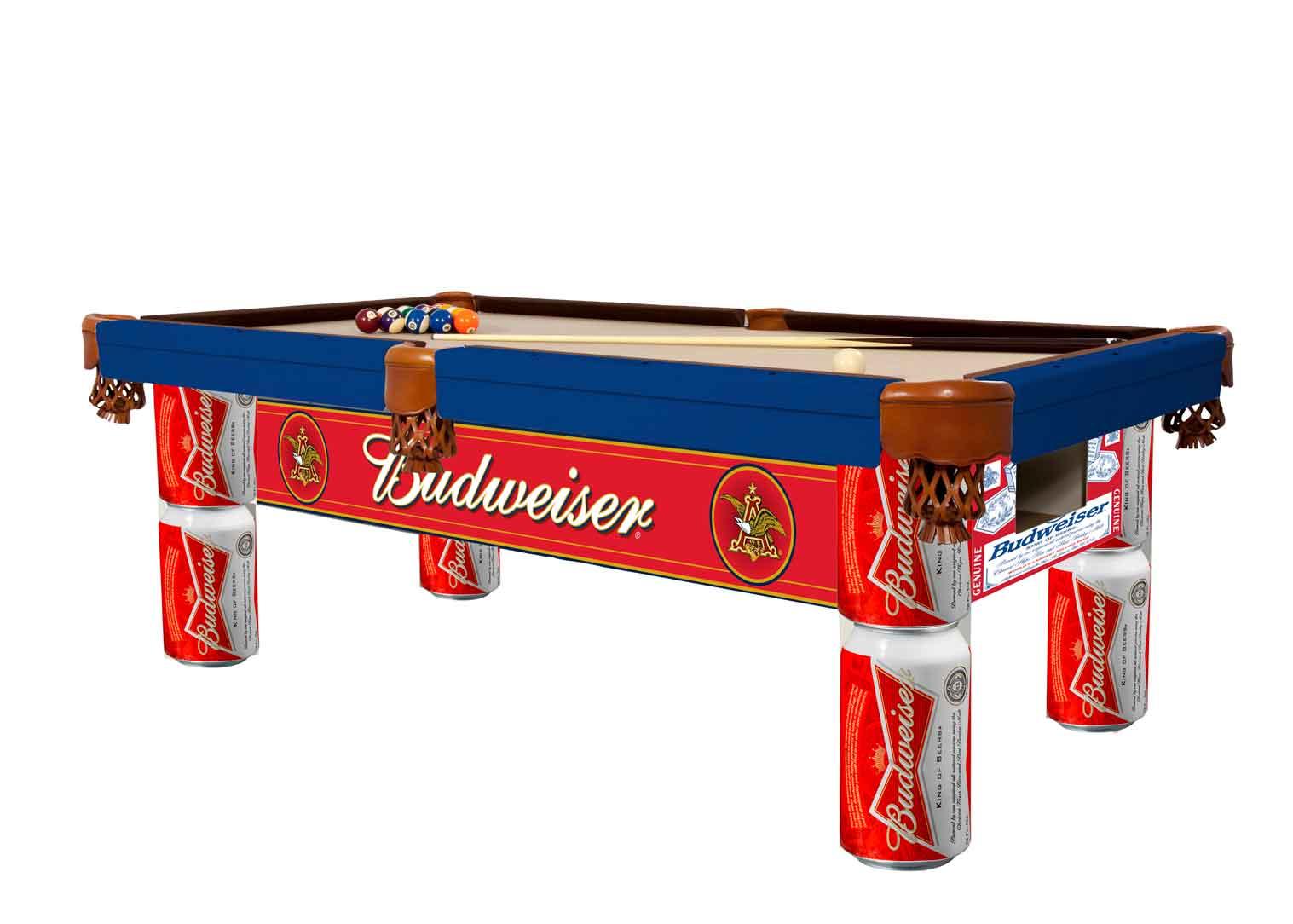 Custom outdoor pool table for Budweiser