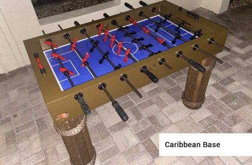 Caribbean Base Outdoor Foosball Table from R&R Outdoors All Weather Billiards