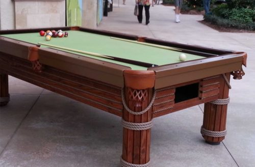 R&R Outdoors All Weather Billiards custom Caribbean pool table in the Mercato Naples, Florida