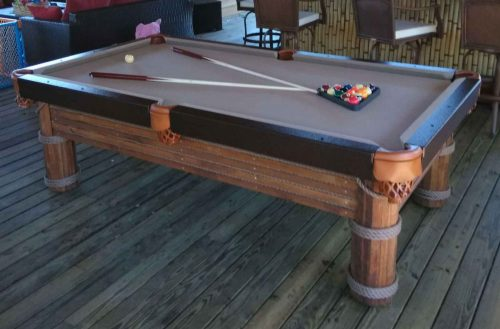 Caribbean custom pool table in Southwest Florida outdoor living space | R&R Outdoors All Weather Billiards