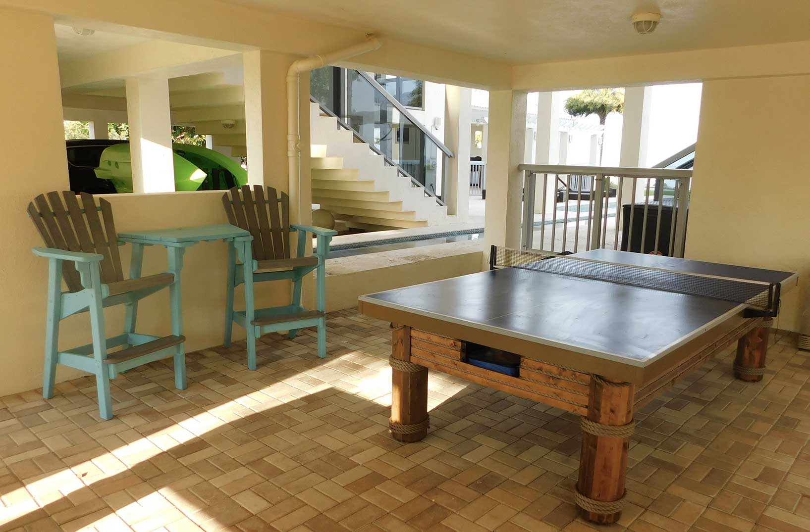 Southwest Florida home with Caribbean Outdoor Table Tennis Table from R&R Outdoors All Weather Billiards