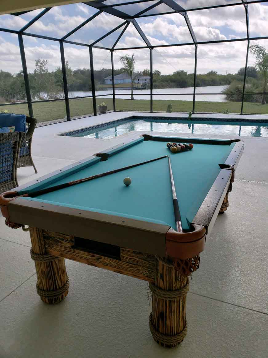 Caribbean Outdoor Pool Table Pool-Side from R&R Outdoors, Inc. All Weather Billiards