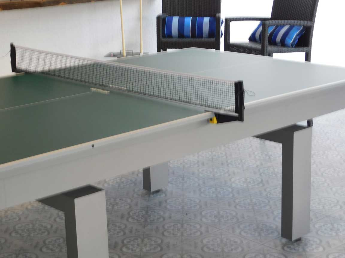 Close up of an Outdoor Table Tennis Table from R&R Outdoors