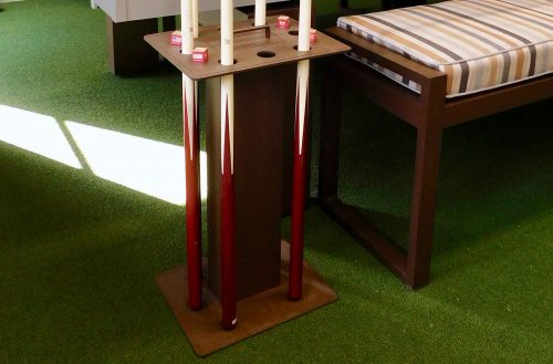 Floor cue rack holder by R&R Outdoors All Weather Billiards