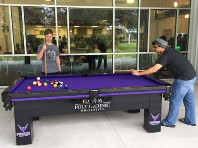 Florida Polytechnic University Gets Custom Wrapped Outdoor Pool Table