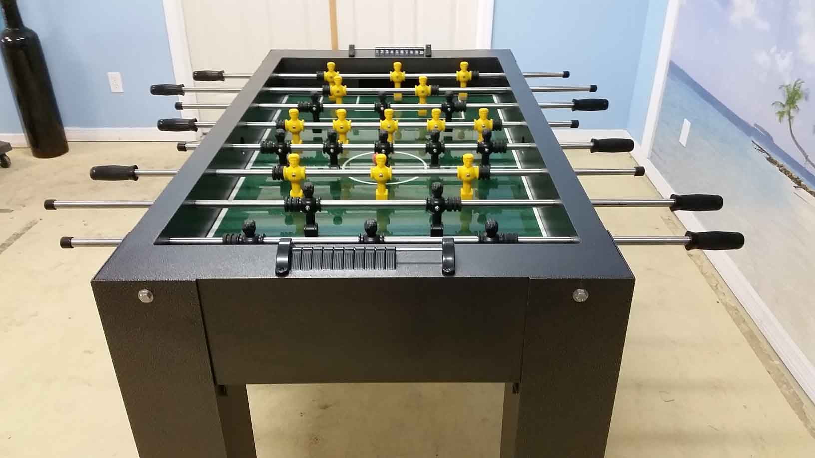 Silver vein custom outdoor foosball game table from R&R Outdoors All Weather Billiards