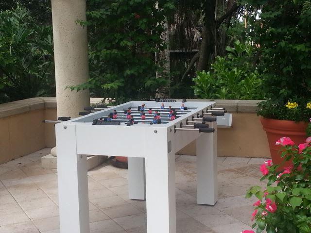 Ritz Carlton in Naples, Florida custom all weather foosball game table