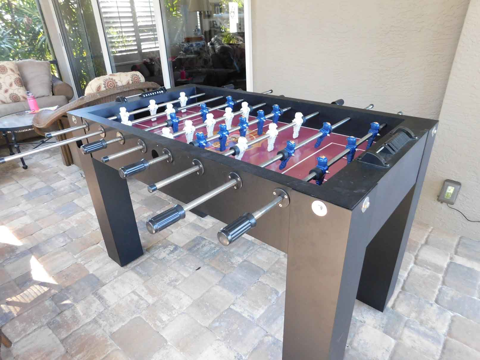 Outdoor foosball game table in Southwest Florida home by R&R Outdoors All Weather Billiards
