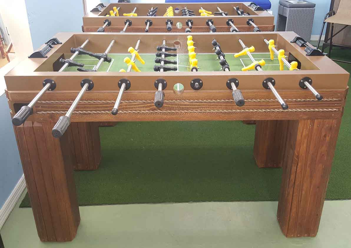 Caribbean Style Outdoor foosball game table in Southwest Florida home by R&R Outdoors All Weather Billiards
