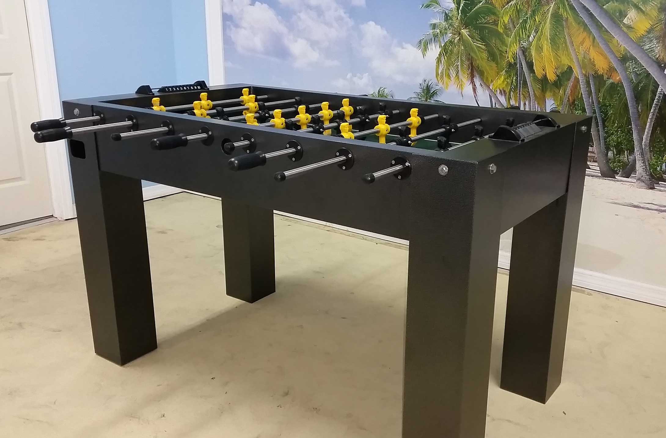 on outdoors of image randroutdoors tables surface img r products close solid all up game weather inc shuffleboard playing rock outdoor table billiards