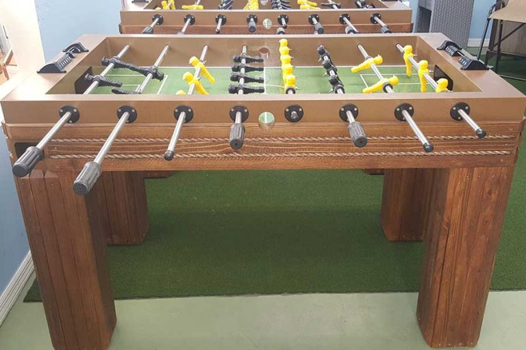 Outdoor Foosball Table by R&R Outdoors | Outdoor Game Tables