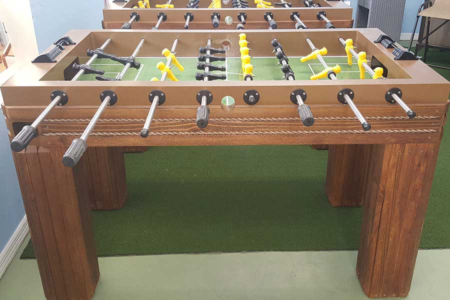Foosball Game Table RR Outdoors Inc All Weather Billiards And Games - Custom foosball table