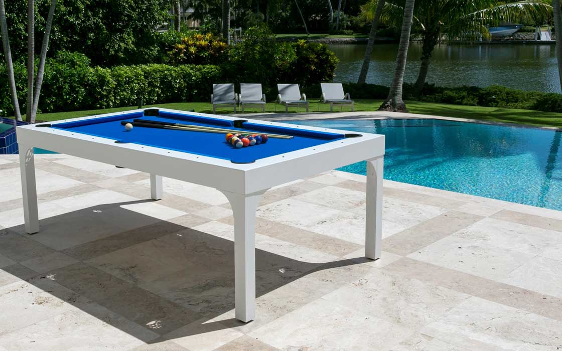 Balcony custom outdoor pool table by R&R Outdoors All Weather Billiards