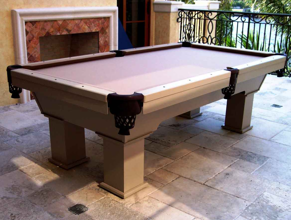 Caesar custom outdoor pool table by R&R Outdoors All Weather Billiards