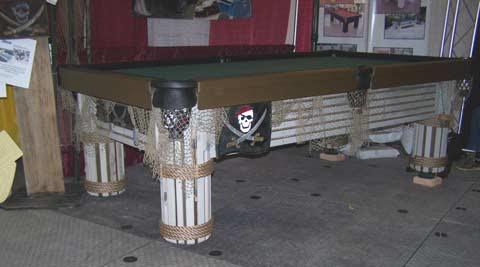 Caribbean, custom outdoor pool table, by R&R Outdoors All Weather Billiards