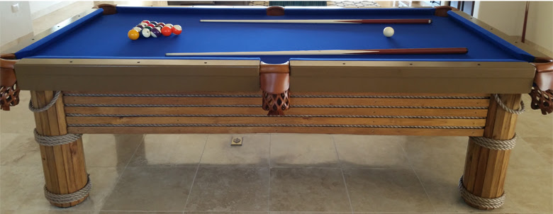 R&R Outdoors Caribbean pool table made for a client in Cabo San Lucas, Mexico