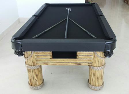 Black and Natural wood Caribbean custom outdoor pool table with custom accessories