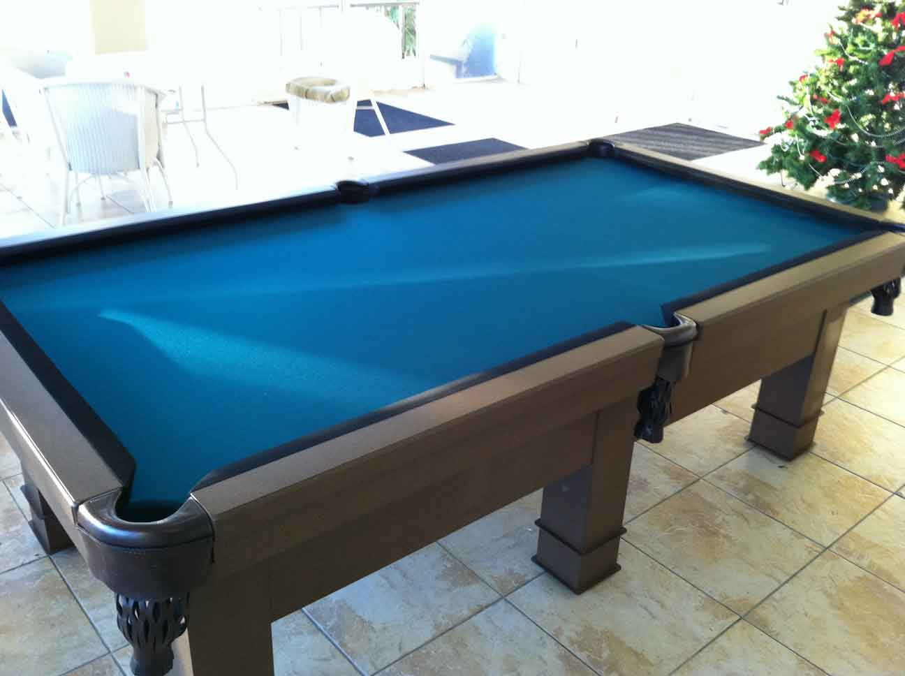 Orion custom outdoor pool table by R&R Outdoors All Weather Billiards