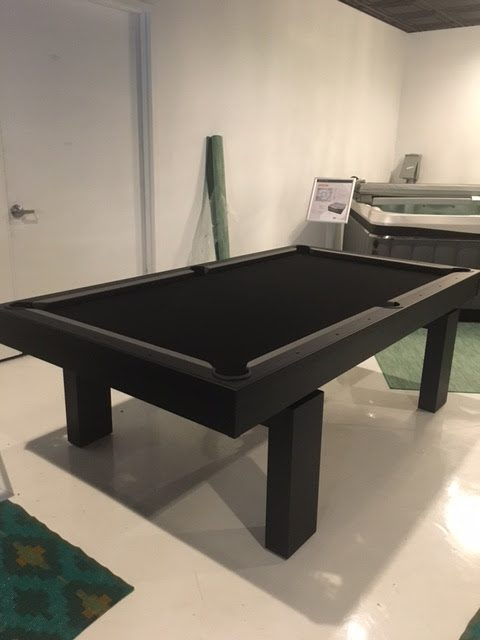 South Beach, custom pool table, in client's showroom