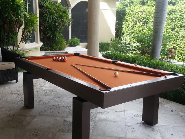 South Beach custom outdoor pool table by R&R Outdoors All Weather Billiards