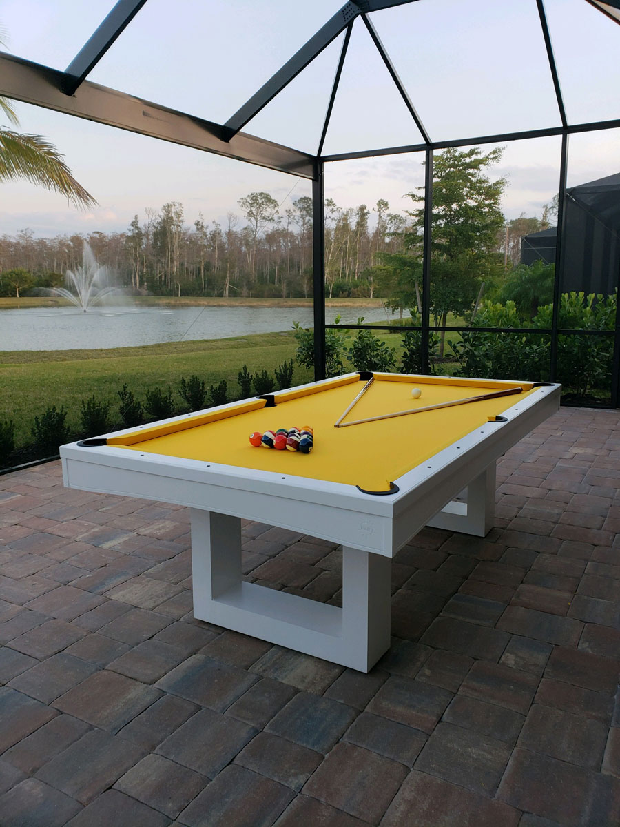 R&R Outdoors' Horizon Outdoor Pool Table - All Weather Billiards and Games