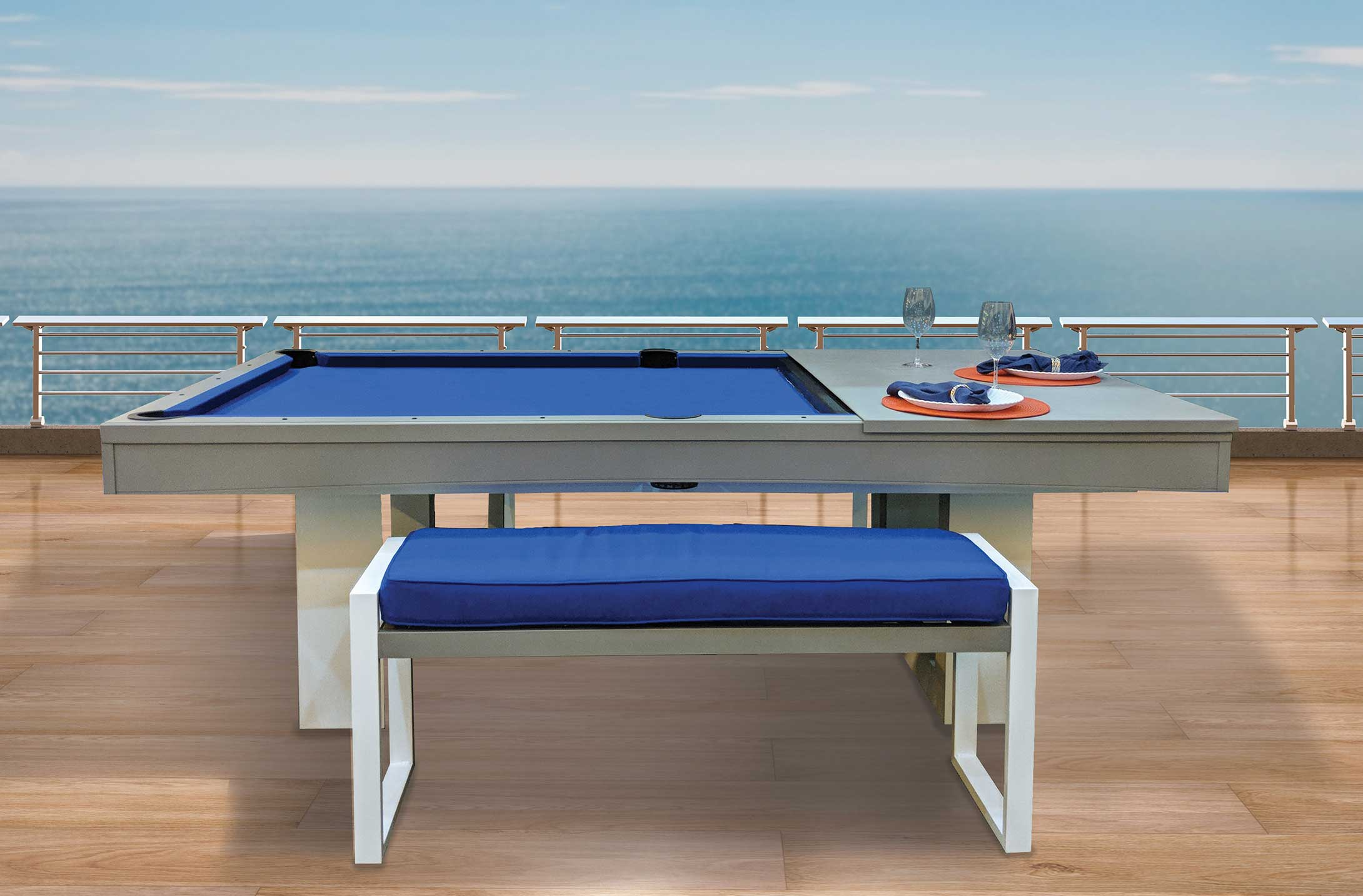 The Horizon custom outdoor pool table is R and R Outdoors, Inc. newest all weather pool table. Customize yours today!