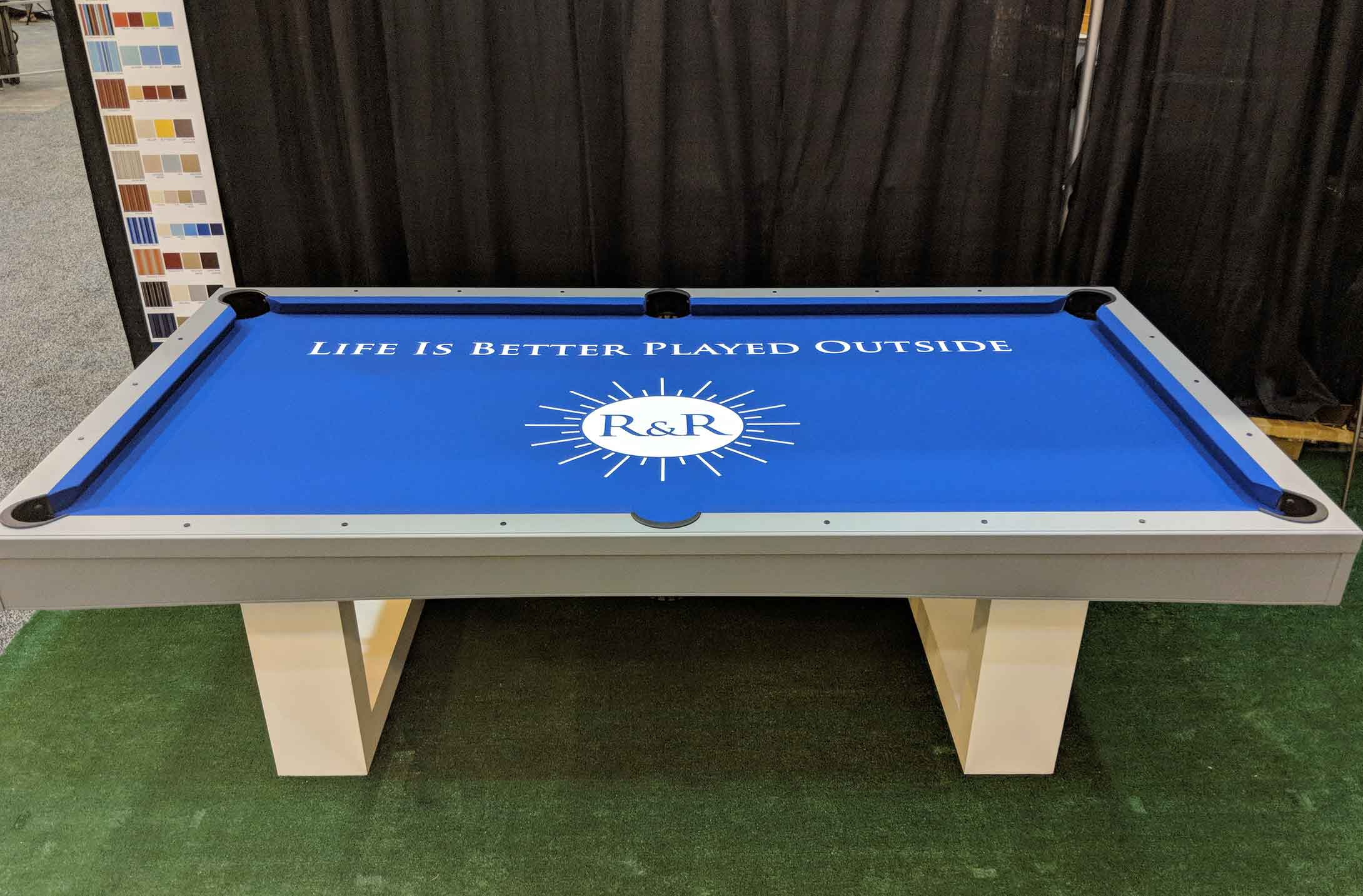 Life is Better Played Outside Pool Table   R&R Outdoors