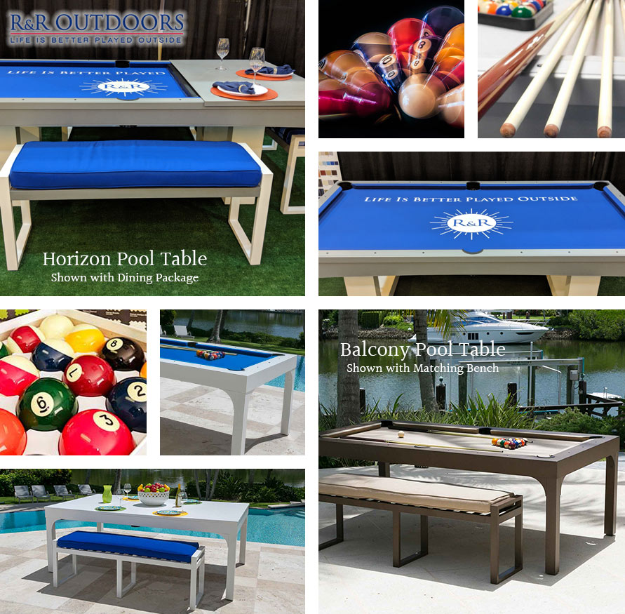 Modern Pool Table Designs from R&R Outdoors | Indoor/Outdoor Pool Tables