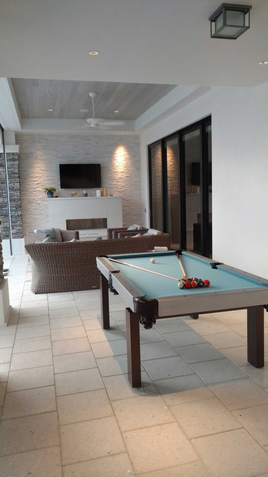 Oasis outdoor pool table by R&R Outdoors All Weather Billiards