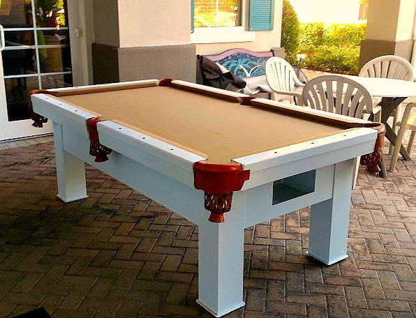Orion custom outdoor pool table by R&R Outdoors, All Weather Billiards
