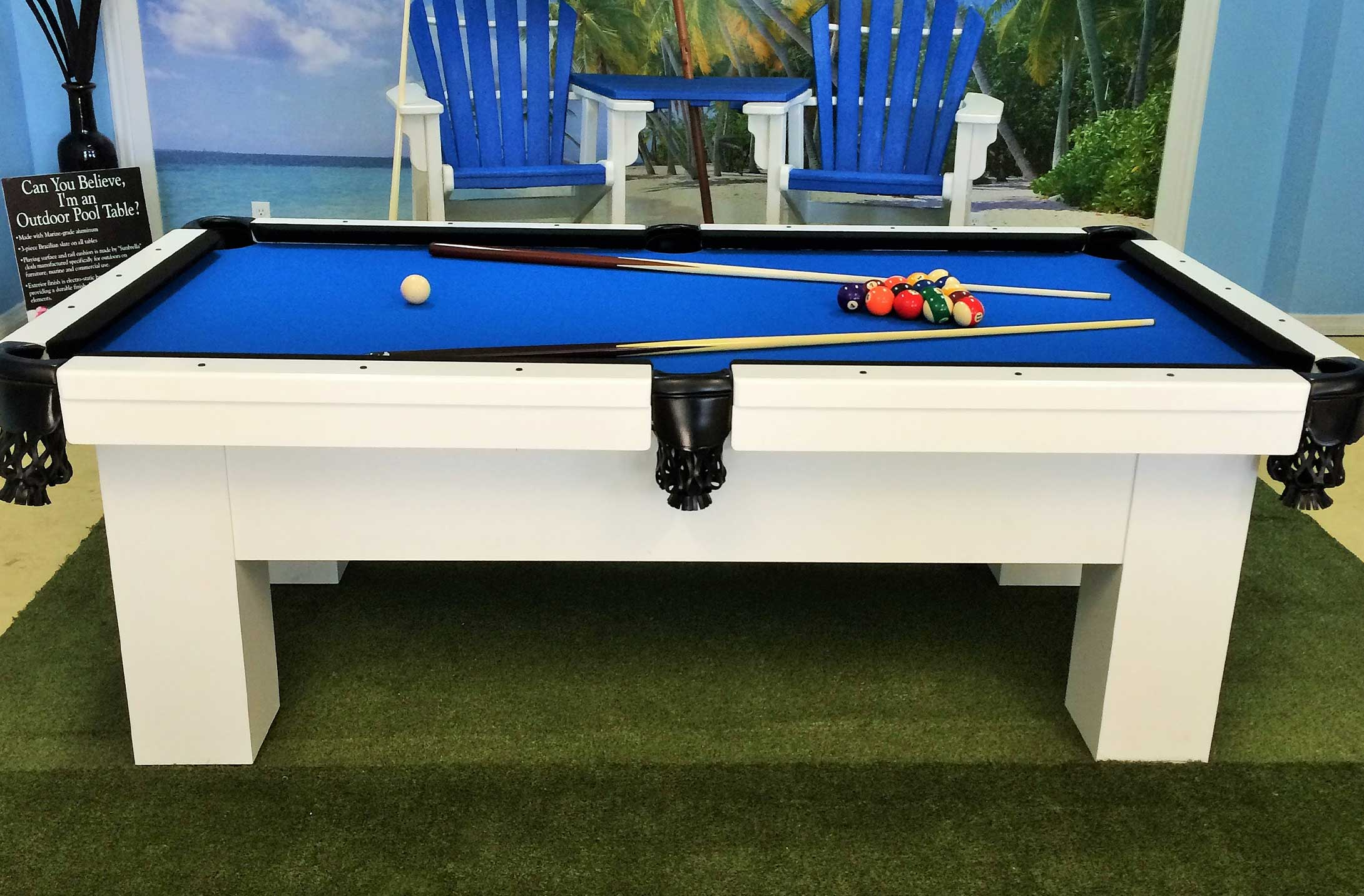 aluminum means billiards weatherproof piece supports top unibody best table desert a the design outdoor frame one upper palm slate pool construction