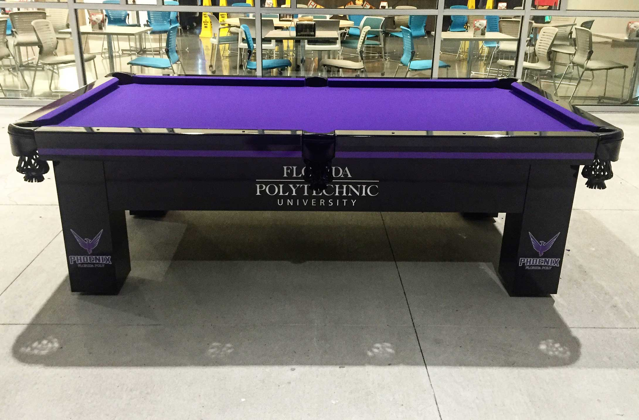 Florida Polytechnic University's custom Orion outdoor pool table