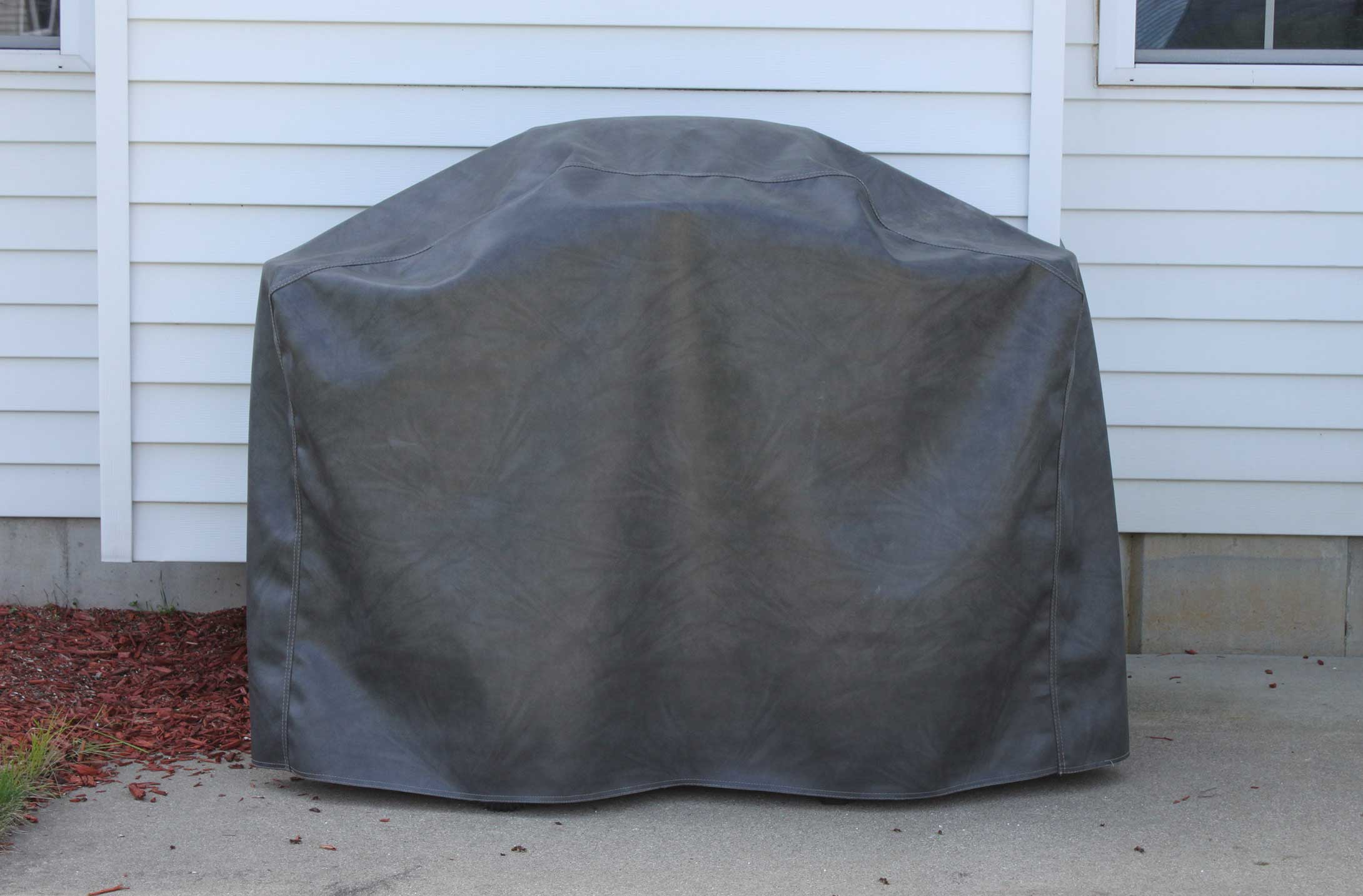 Example of charcoal custom pool table cover