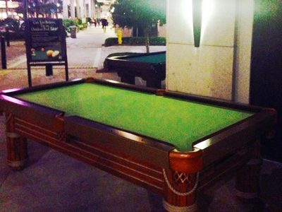 Outdoor Pool Tables Now at Mercato in Naples!