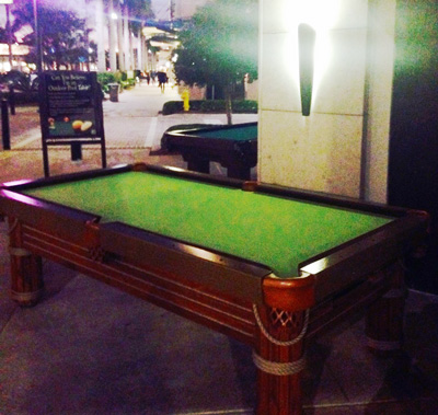 Outdoor Pool Tables Now At Mercato In Naples RR Outdoors Inc - Sleek pool table