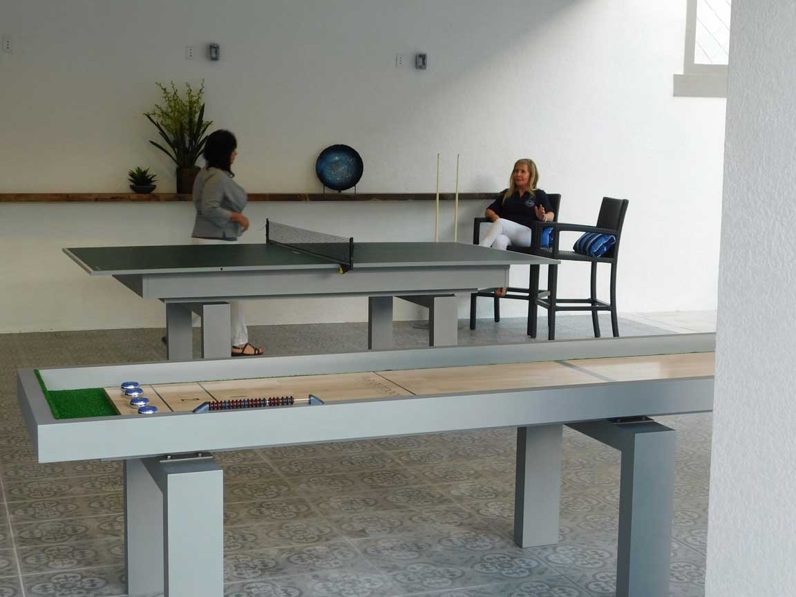 Outdoor Table Tennis and Outdoor Shuffleboard Tables from R&R Outdoors