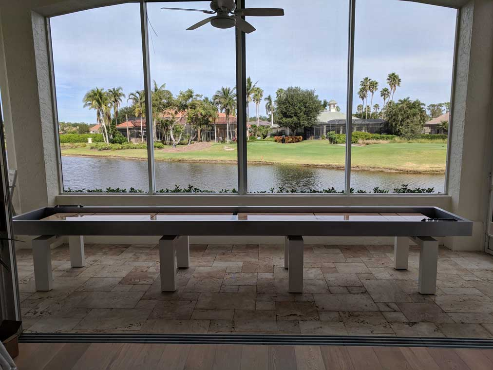 Outdoor Shuffleboard Table in Southwest Florida Home by R&R Outdoors, Inc.