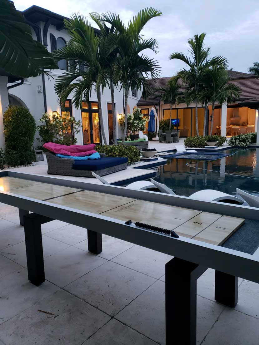 Outdoor Shuffleboard Table Pool Sider in Southwest Florida Home by R&R Outdoors, Inc.