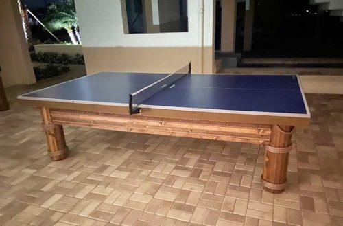 Caribbean Style Outdoor table tennis game table by R&R Outdoors All Weather Billiards