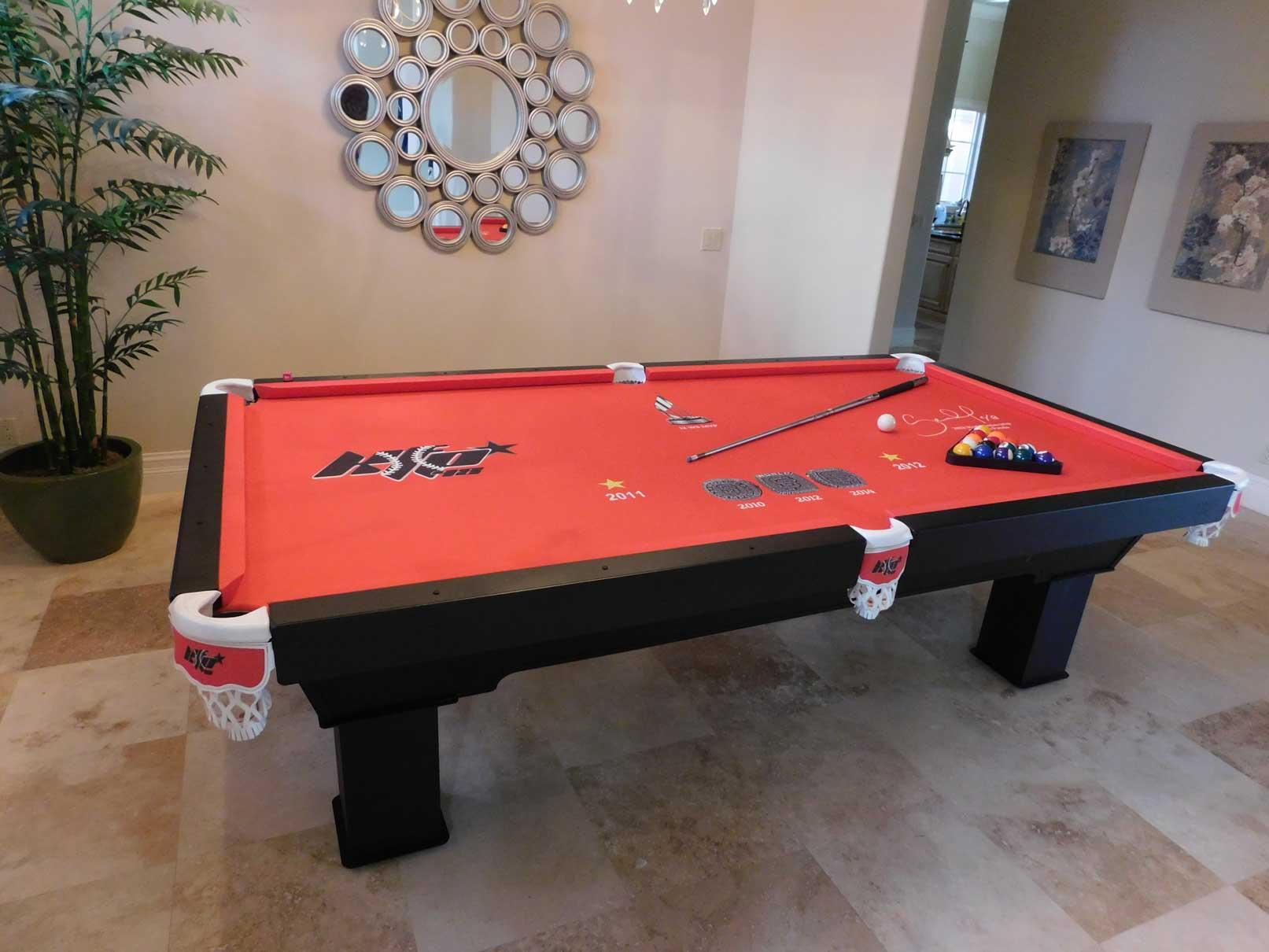 Pablo Sandovalu0027s Custom Pool Table From Ru0026R Outdoors, All Weather Billiards