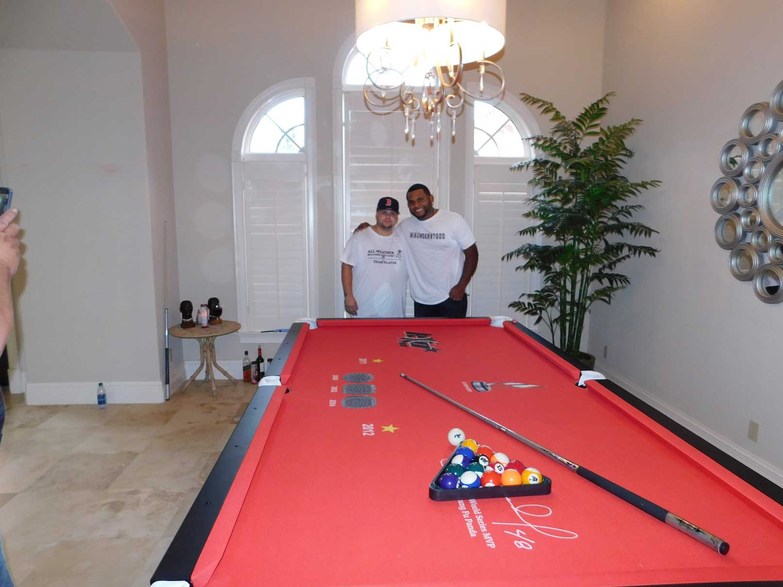 Pablo Sandoval's custom pool table from R&R Outdoors, All Weather Billiards