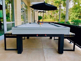 Pool Table with Benches | R & R Outdoors - Outdoor Pool Tables