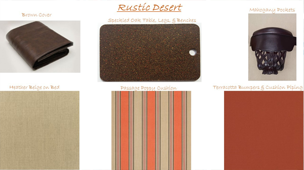 R&R Outdoors, Inc. All Weather Billiards Rustic Desert Color Combinations